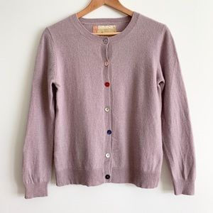 Cashmere Cardigan With Elbow Patches